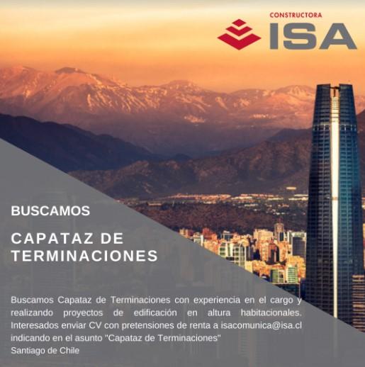 Noticia Buscamos Capataz de Terminaciones - Santiago