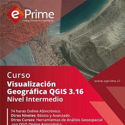 publicidad VISUALIZACIÓN GEOGRÁFICA  QGIS 3.16 -NIVEL INTERMEDIO- CONFIRMADO AGOSTO 2021