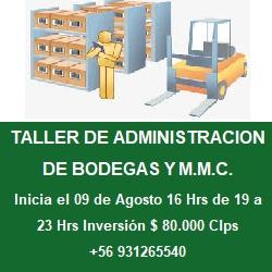 publicidad TALLER DE ADMINISTRACION DE BODEGA